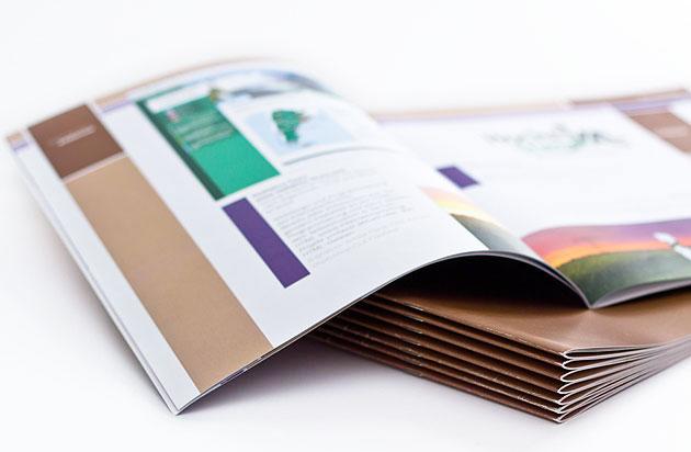 Aufgeschlagene Broschuere